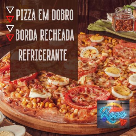 2 Pizzas com Borda Recheada + Refrigerante de 1L (Delivery ou Take Away)