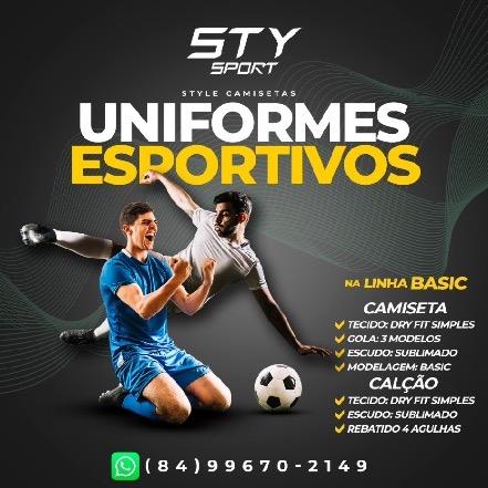 Kit c/ 12 Uniformes Esportivos (Camisa + Calção)
