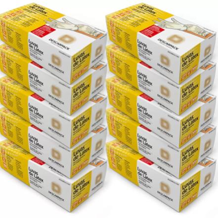 Luva Procedimento de Látex Descarpack - Caixa c/ 100 Un