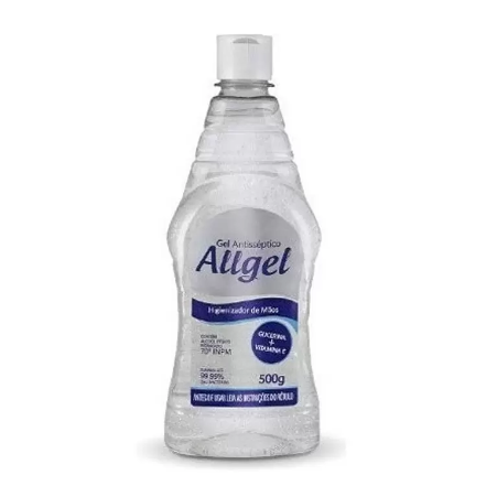 Álcool em Gel 70º Allgel c/ Aloe Vera + Glicerina - 500ml