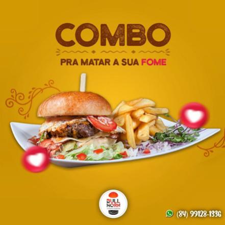 Burger + Fritas + Refrigerante 350ml