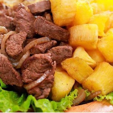 Isca de Carne de Sol + Macaxeira Frita