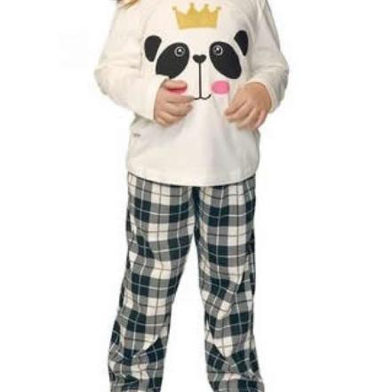 Pijama Menina Panda DeMillus 85018 Preto 02 Anos