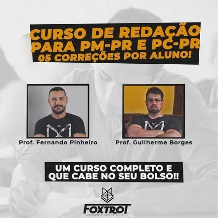 Curso de Redação com Correção - PMPR e PCPR.
