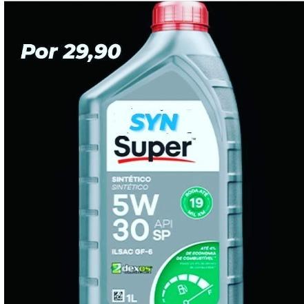 Óleo lubrificantes syn 5w30